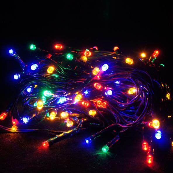 Sznur 120 LED multikolor migające 12m
