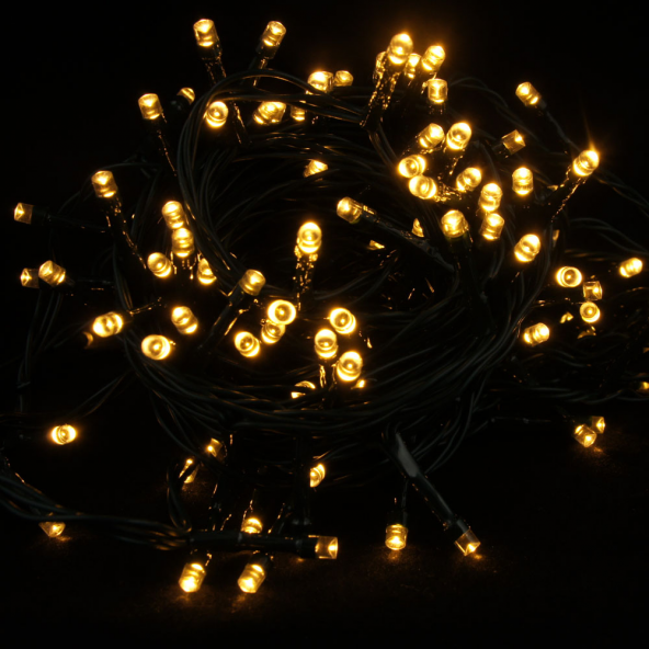 Sznur 240 LED ciepla biel 24m