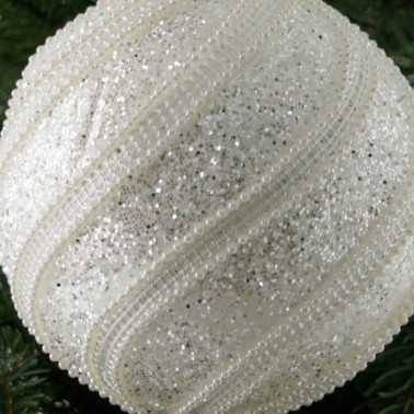 Bombka koraliki paski 10cm