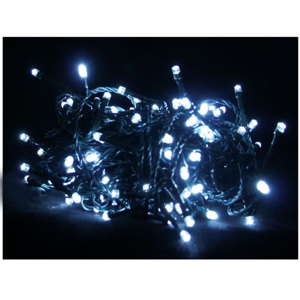 Sznur 100 LED zimna biel 7,5m starter do łączenia