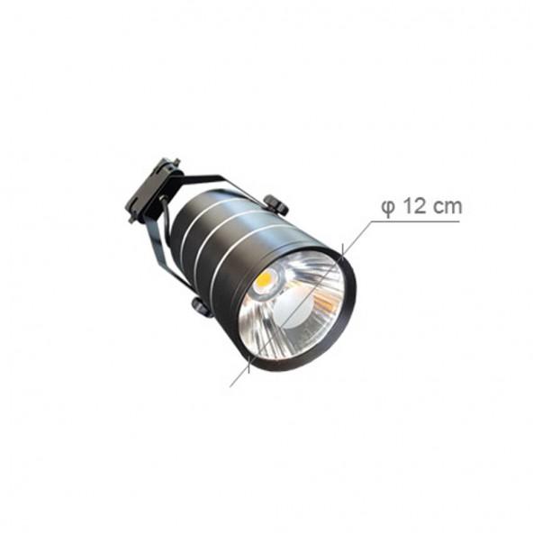 Lampa SKLEPOWA LED (CZARNA ) - 6'000 K