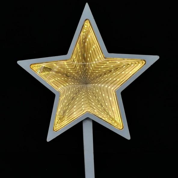 Gwiazda z lustrem weneckim LED
