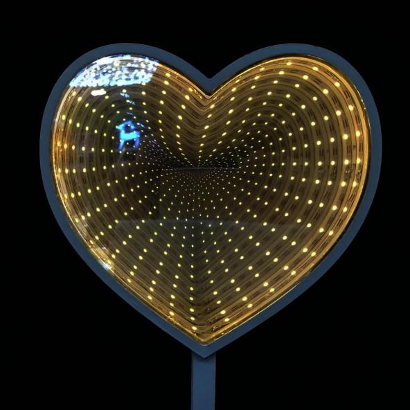Serce z lustrem weneckim LED