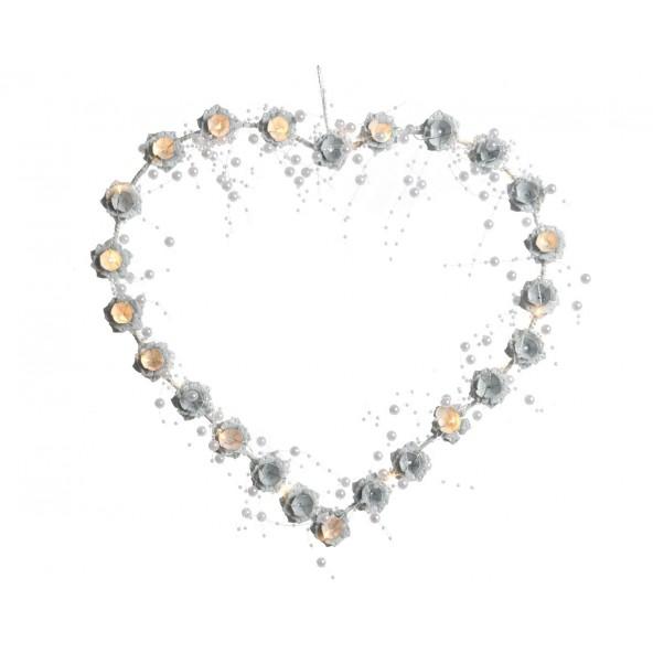 Serce wianek LED