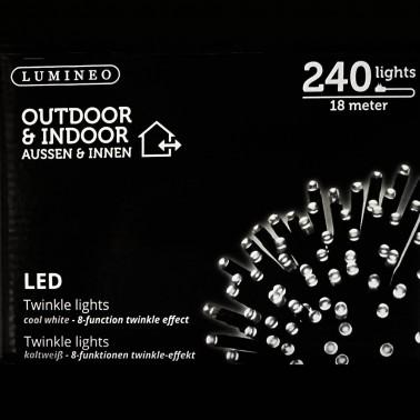 Sznur 240 LED zimna biel 18m
