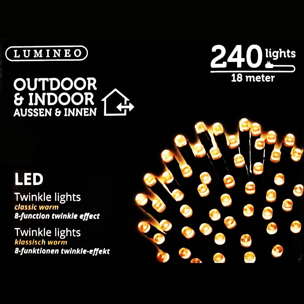 Sznur 240 LED ciepły klasyczny 18m