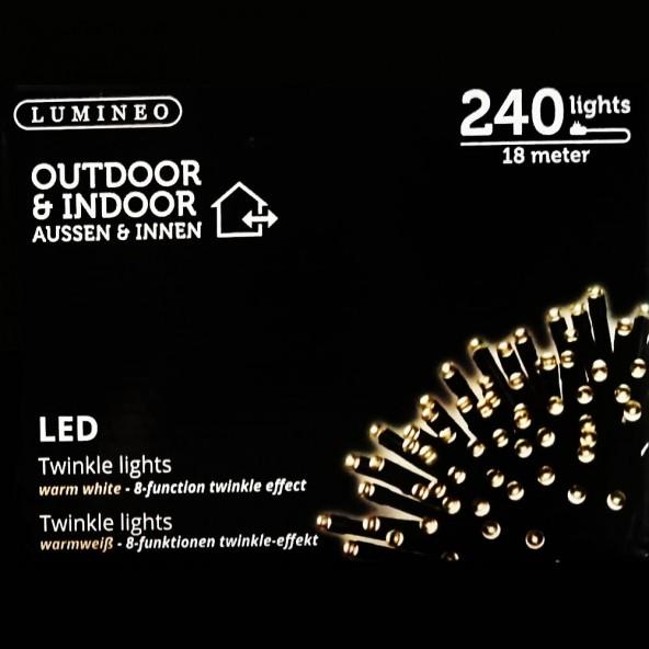 Sznur 240 LED ciepły biały 18m