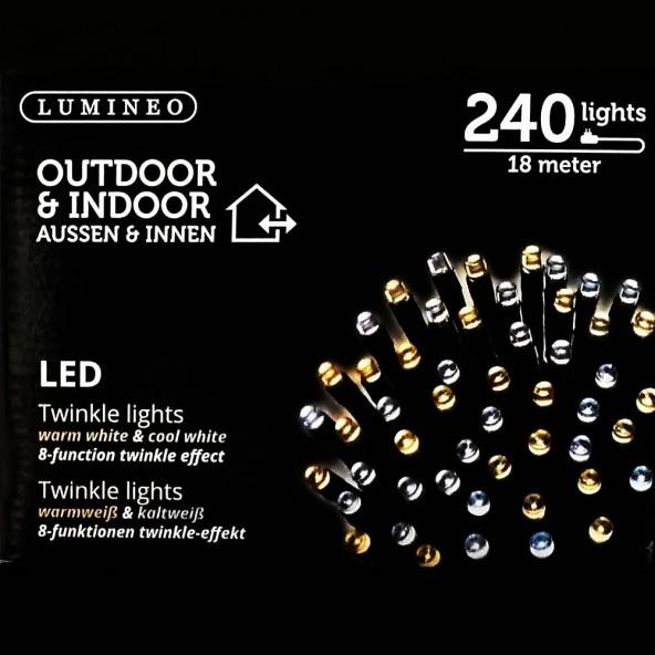 Sznur 240 LED ciepło zimny 18m