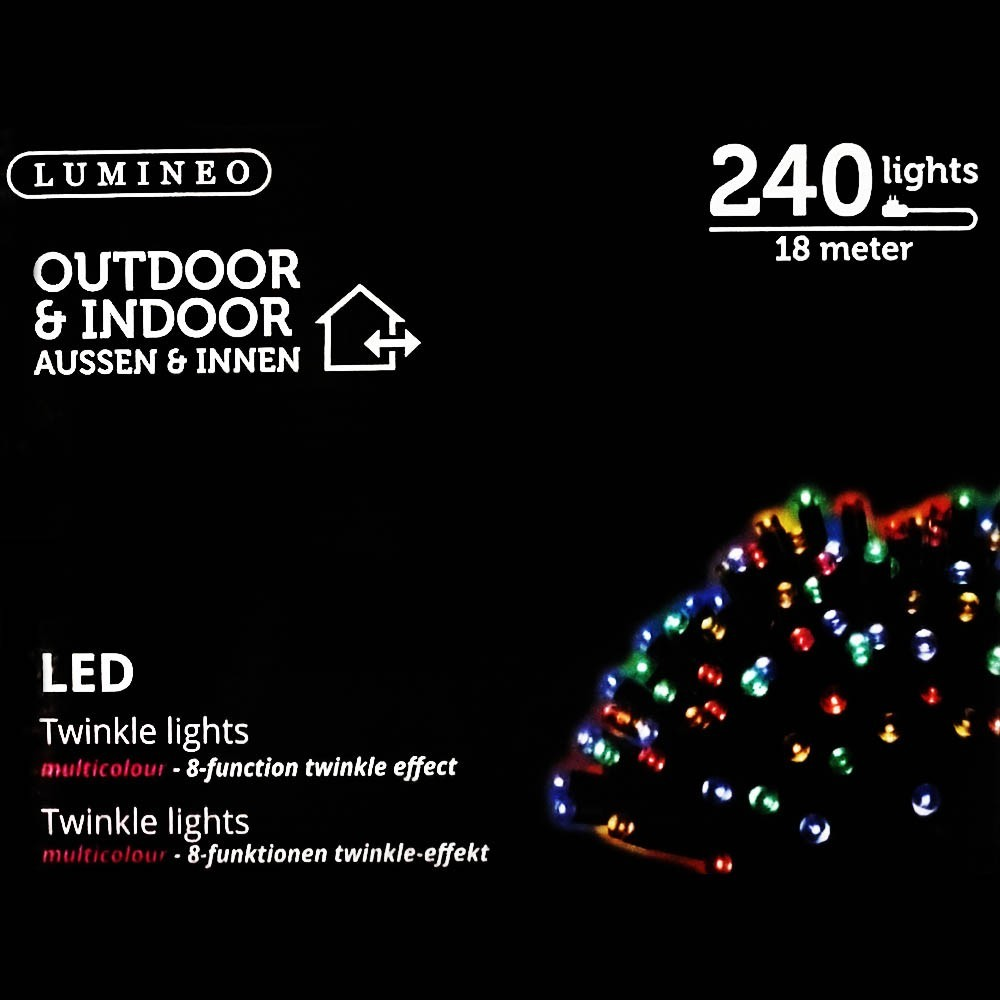 Sznur 240 LED multikolor 18m