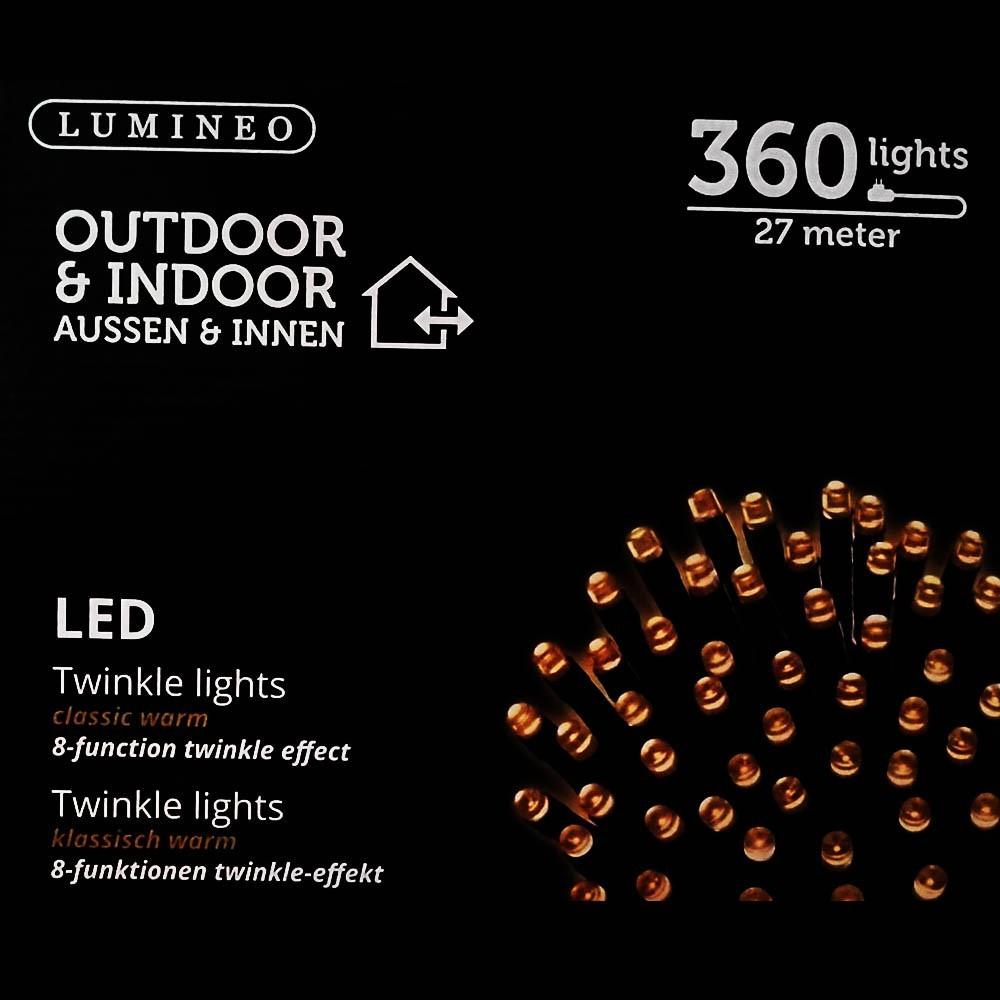 Sznur 360 LED ciepły klasyczny 27m