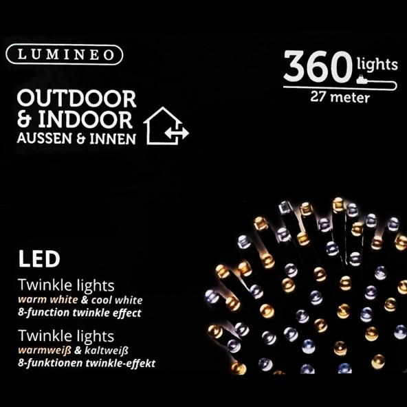 Sznur 360 LED ciepło zimny 27m