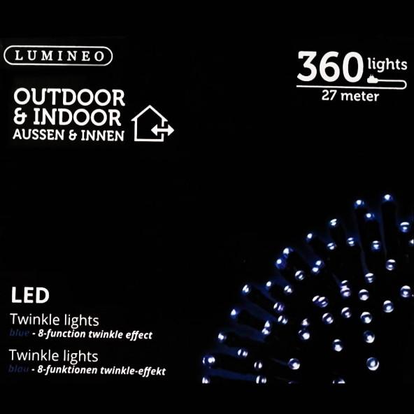 Sznur 360 LED niebieski 27m