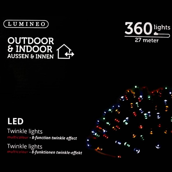 Sznur 360 LED multikolor 27m
