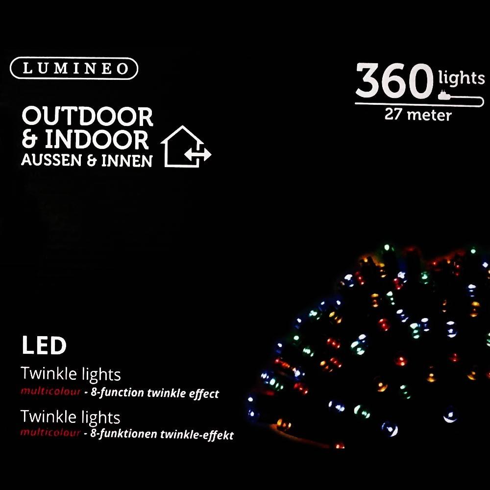 Sznur 360 LED multikolor 27m