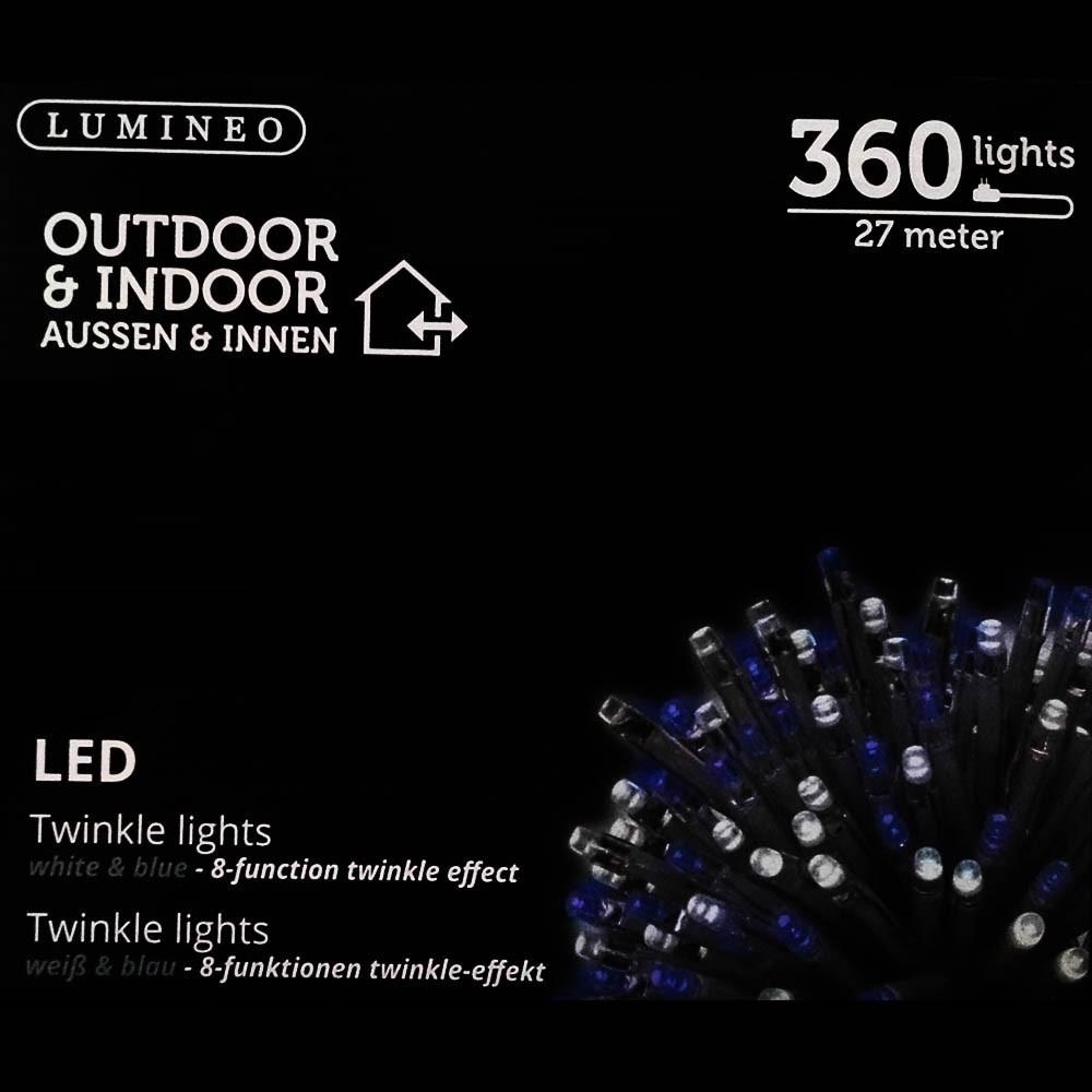 Sznur 360 LED niebiesko biały 27m