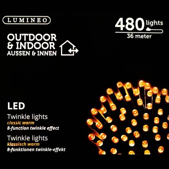 Sznur 480 LED ciepły klasyczny 36m