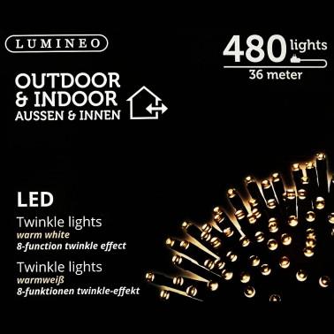 Sznur 480 LED ciepły biały 36m