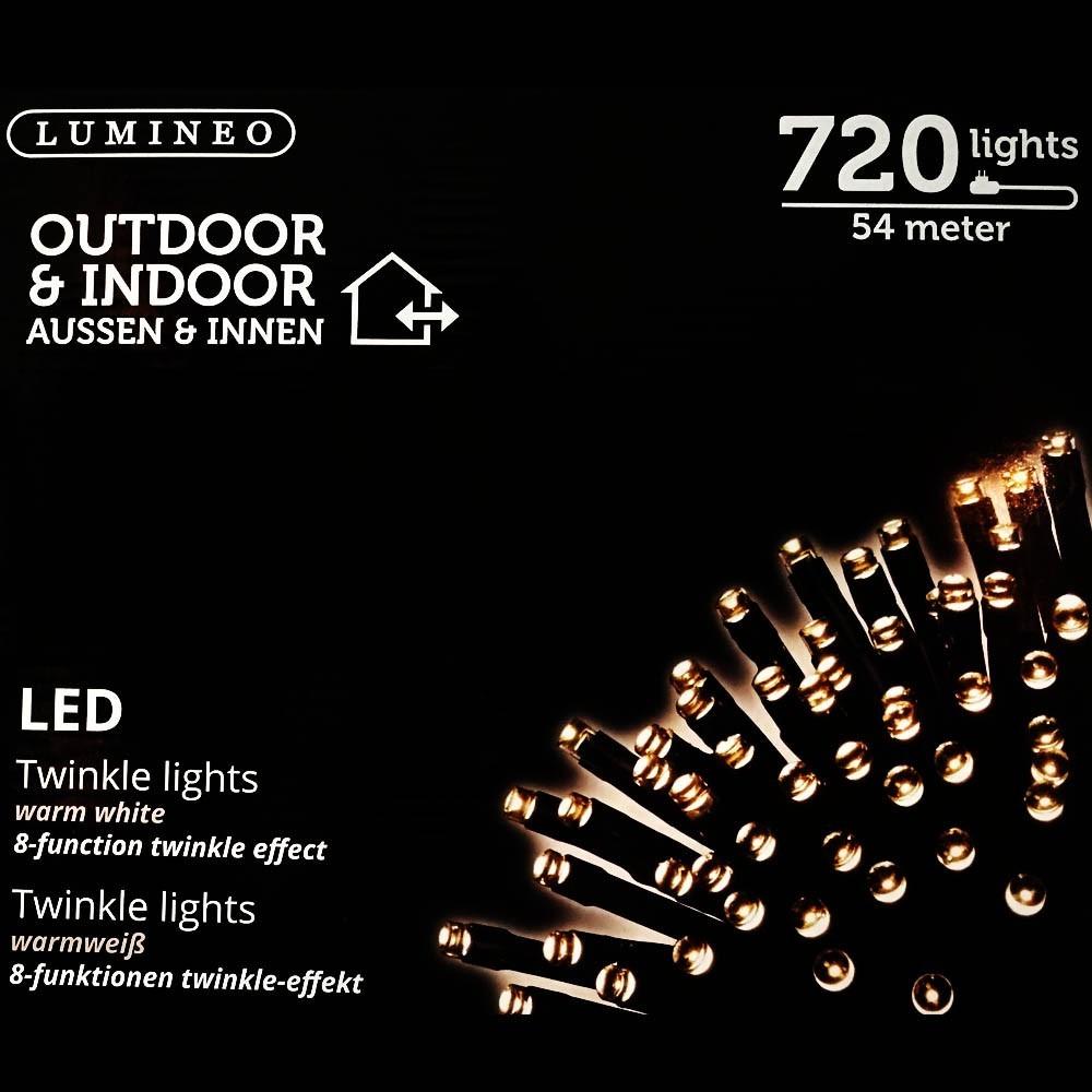 Sznur 720 LED ciepły biały 54m