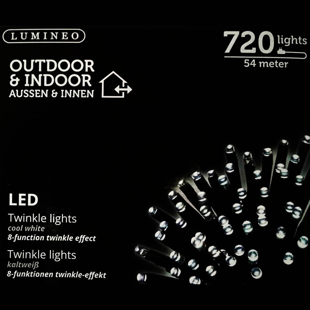 Sznur 720 LED zimny biały 54m