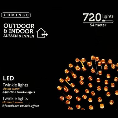 Sznur 720 LED ciepły klasyczny 54m