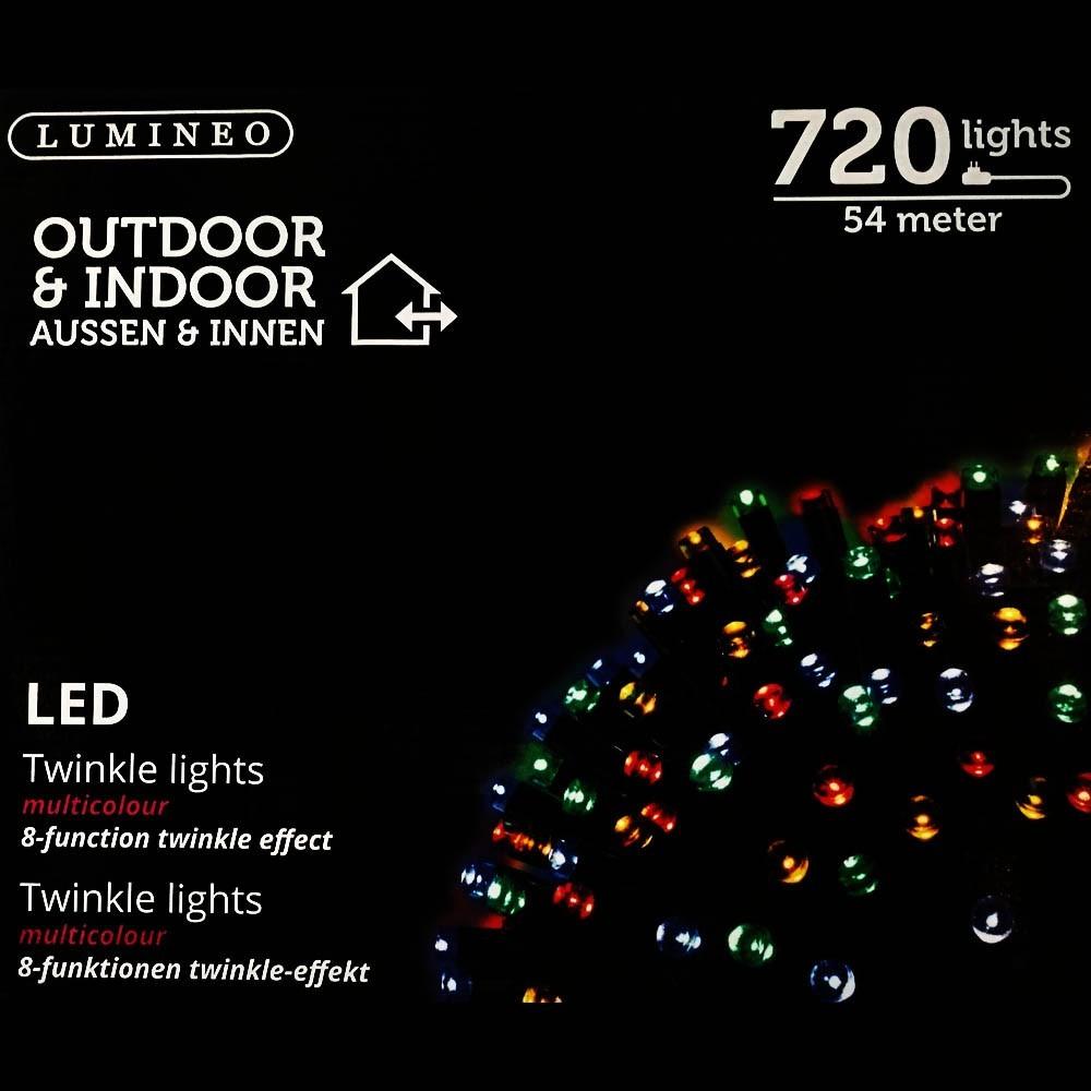 Sznur 720 LED multikolor 54m