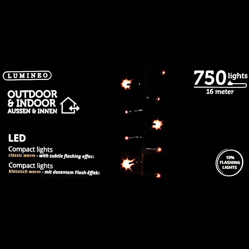 Sznur 750 LED ciepły klasyczny 16m