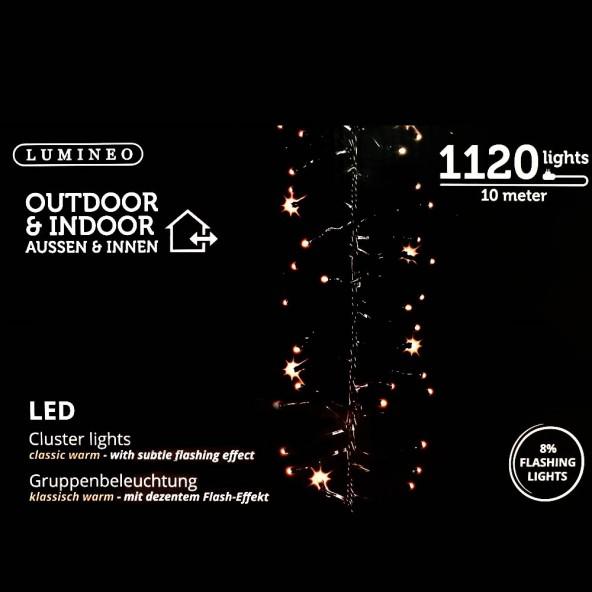 Sznur 1120 LED ciepły klasyczny 10m