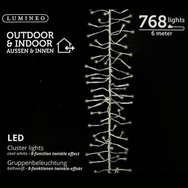 Sznur 768 LED zimny biały 6m
