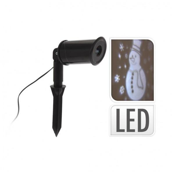 Laser LED projektor bałwan