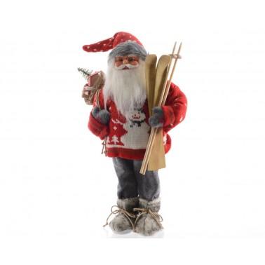 Mikołaj z nartami
