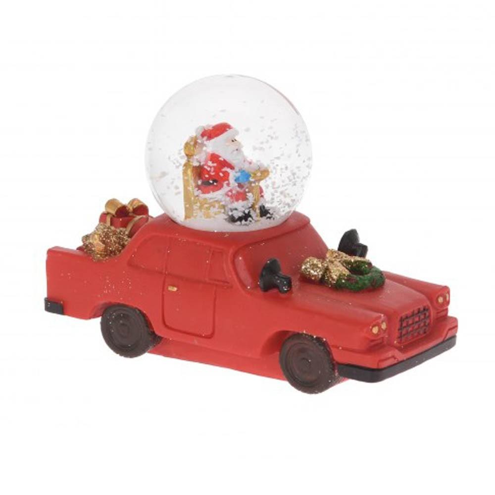 Kula śniegowa samochodzik