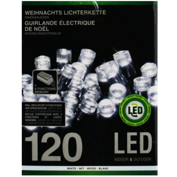 Sznur 120 LED zimna biel 12m