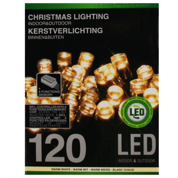 Sznur 120 LED ciepła biel 12m