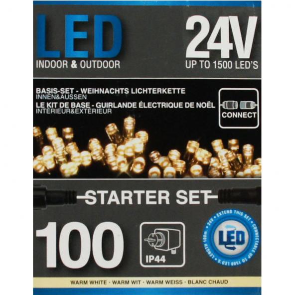 Starter Kurtyna 100 LED ciepła biel 2,85m