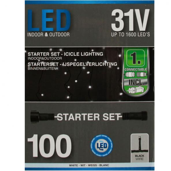 Starter Kurtyna 100 LED zimna biel 2,85m