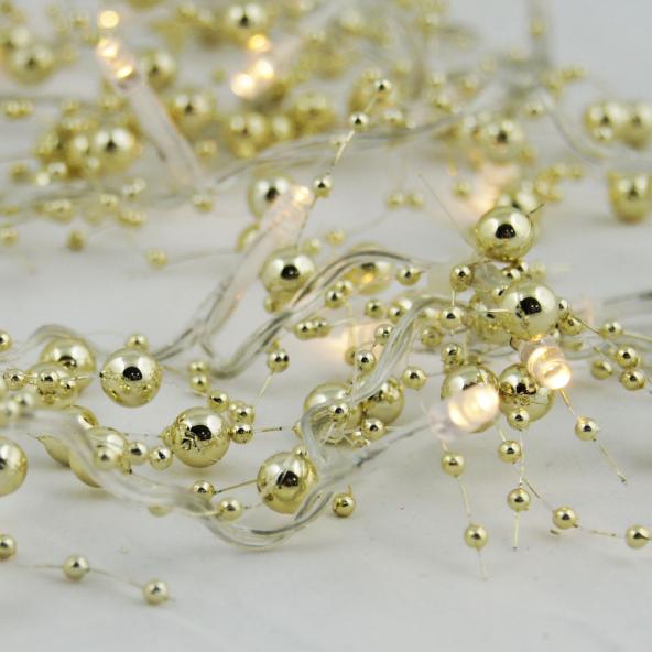 Perły 20 LED złote