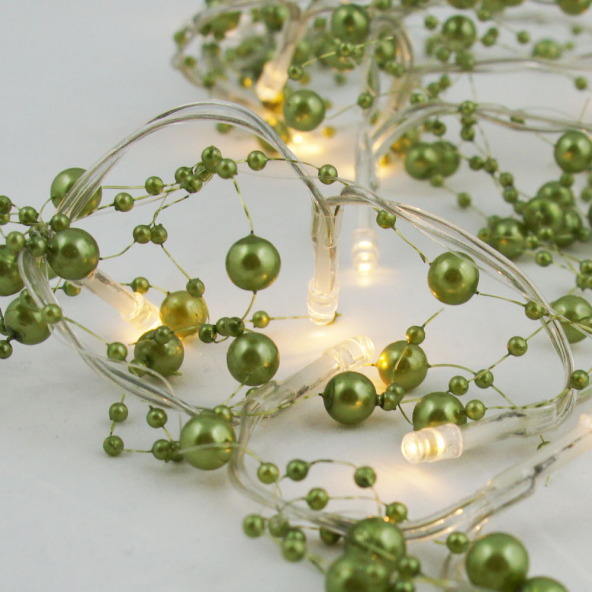 Perły 20 LED zielone