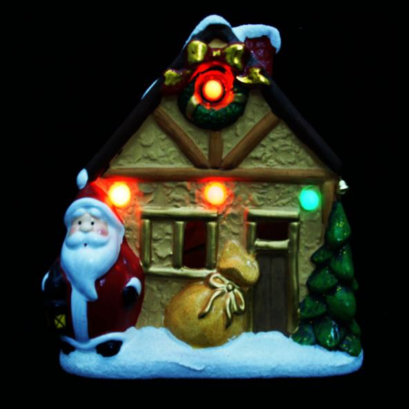 Domek z mikołajem podświetlany LED