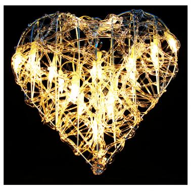 Serce kryształ 20 LED