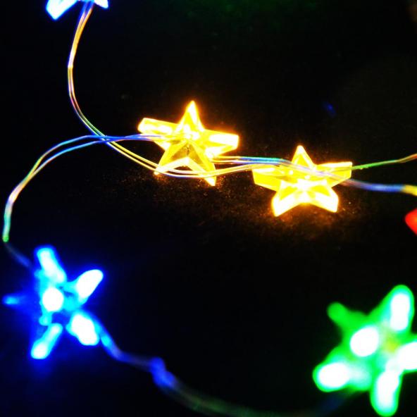 Gwiazdki multikolor 40 LED