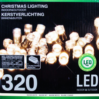 Sznur 320 LED ciepła biel 32m