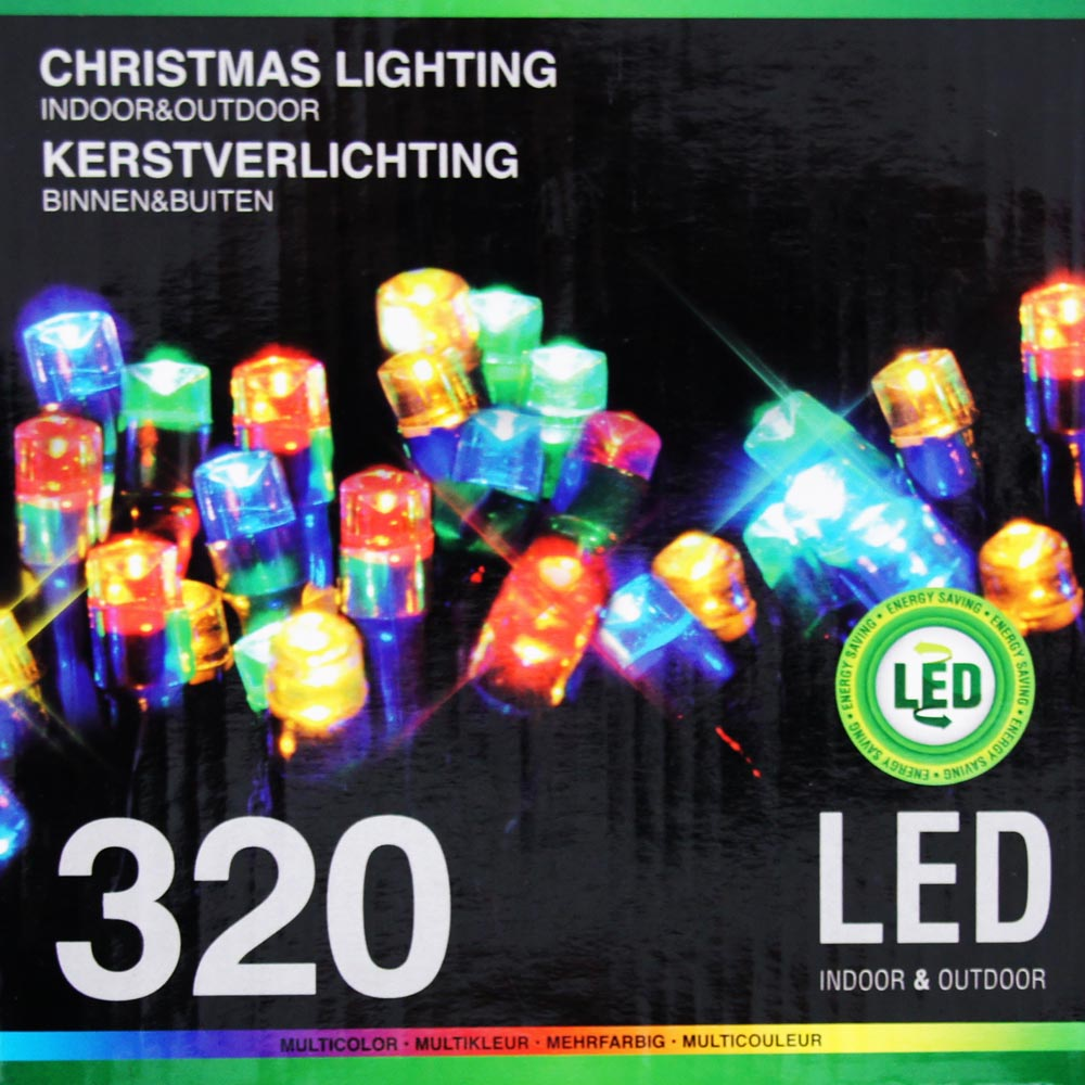 Sznur 320 LED multikolor 24m