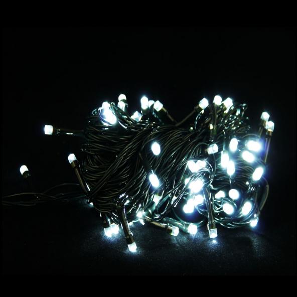 Sznur 100 LED zimna biel 8m