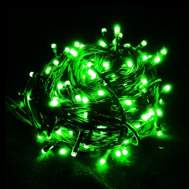 Sznur 100 LED zielone 8m