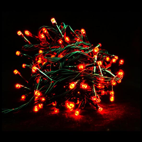 Sznur 200 LED czerwone 15m