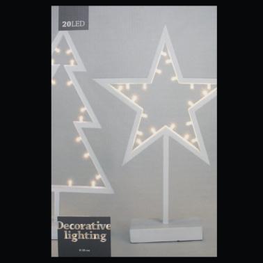 Świecznik gwiazda 20 LED
