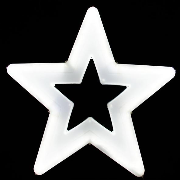 Gwiazda duża biała LED