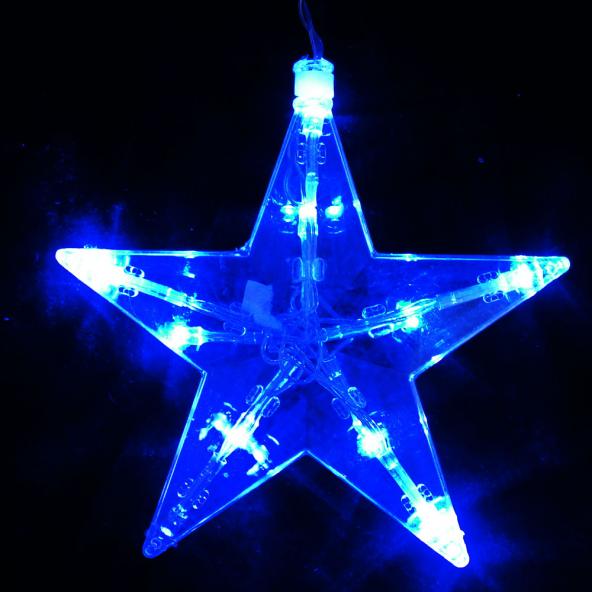 Sznur gwiazdki niebieskie LED