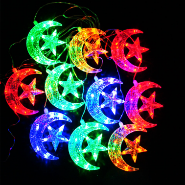 Sznur księżyc z gwiazdkami multi LED