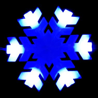 Sznur śnieżynki niebieskie LED